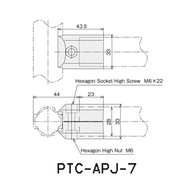 90°Connector(outer) PTC-APJ-7