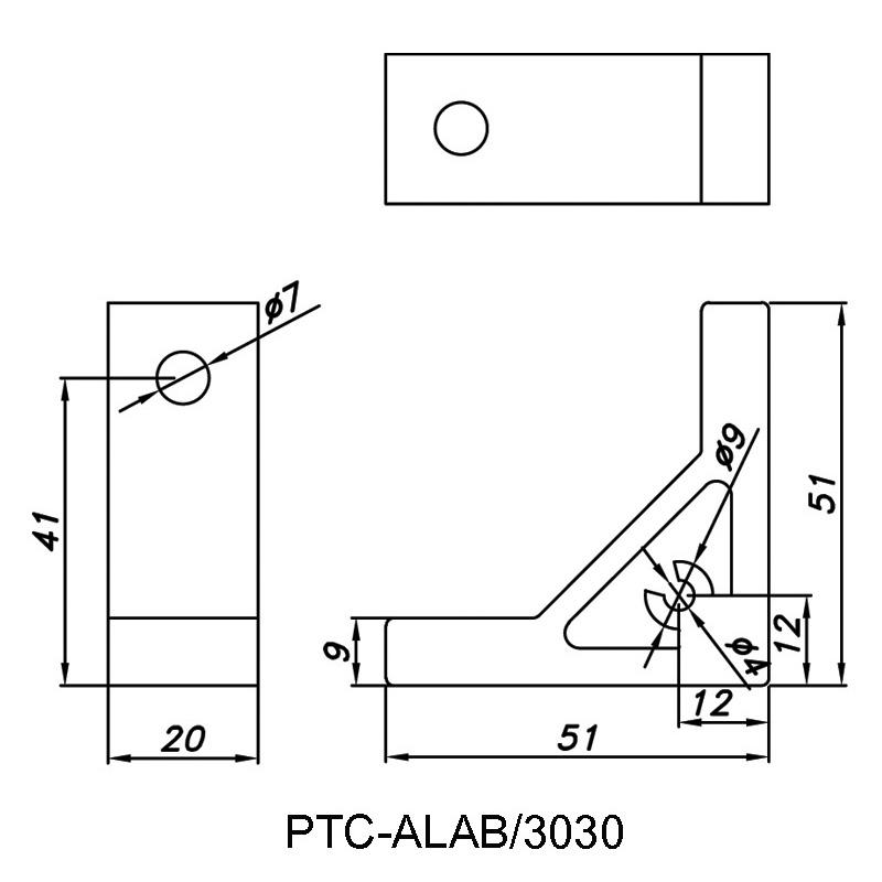Angle Bracket PTC-ALAB/3030