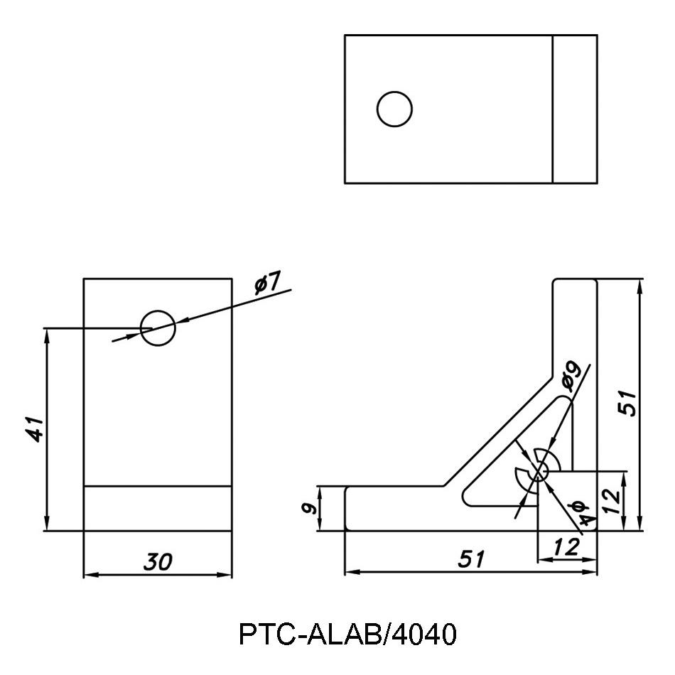 Angle Bracket PTC-ALAB/4040