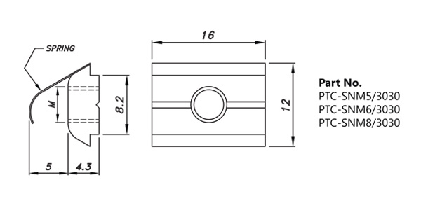 Slot Block with Spring