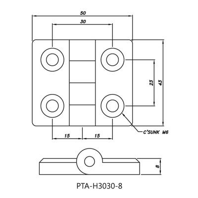 Hinge PTA-H3030-8