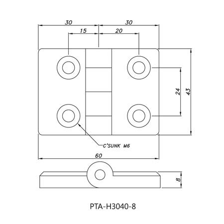 Hinge PTA-H3040-8