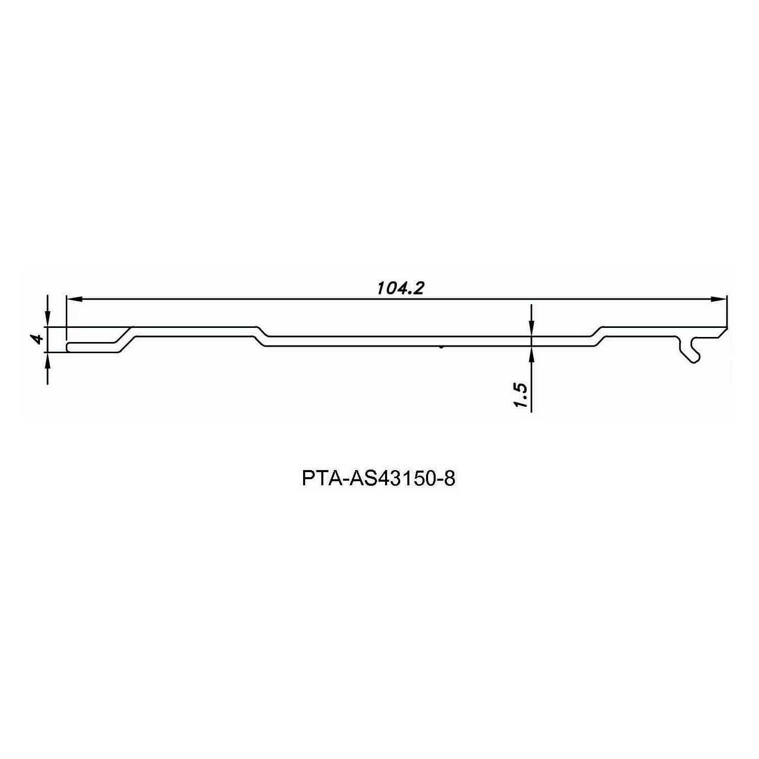 Aluminium Cover Strip PTA-AS43150-8