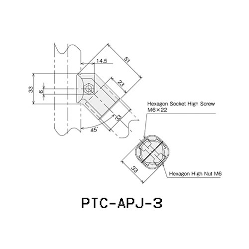 45°Connector Outer Type PTC-APJ-3