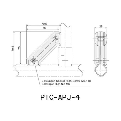 Gusset Connector PTC-APJ-4