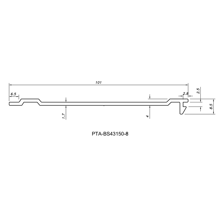 Cover Strip PTA-BS43150-8